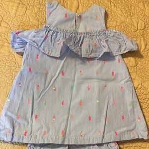 Girls Kate Spade linen dress with bloomers